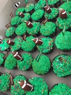 Football themed birthday party cupcakes