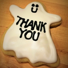 Halloween Thank-You cookies